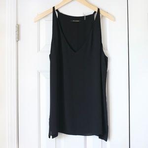 NWOT Kobi Halperin Black silk tank blouse